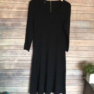 Talbots black Rayon nylon blend long sleeve dress